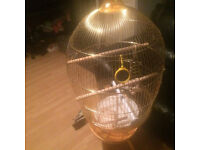 3,ft gold dome cage,,£20