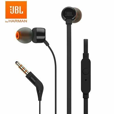 New JBL T110 In-Ear Headphones Earphones  Black Jbl In Ear Headphones