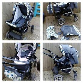Baby-Merc Junior Twist pram pushchair Travel System 3in1 ALL IN ONE