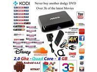 M8S Android Box 4K Smart TV SUPERFAST KODI Quadcore 2.0mhz 2gb ram LIVE SKY SPORTS,BT SPORTS,MOVIES