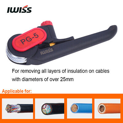 Iwiss Cable Knife Tool Pg-5 Applicable For Communication Cable Mv Cable Lv Cable