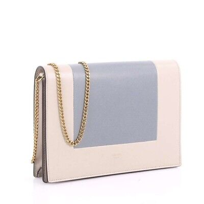 NWT Celine FRAME EVENING CLUTCH ON CHAIN IN BICOLOUR SMOOTH LAMBSKIN 2018
