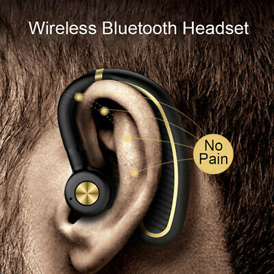 Ear Hook Bluetooth 5.0 Headphone Wireless Headset Earphones Hands free Universal ()