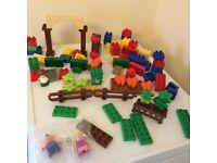Bundle of Duplo compatible Megablocks etc bricks £5 for all collection from Shepshed.