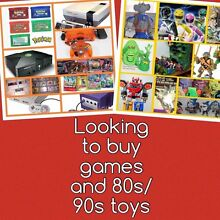 WANTED: video games and 80s/90s toys Newcastle Newcastle Area Preview
