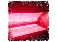 Salon sunbed with token box