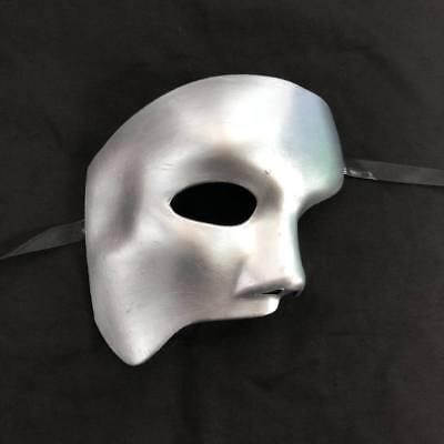 Silber Phantom der Oper Halbes Gesicht Herren Masquerade Mask Kostüm Party