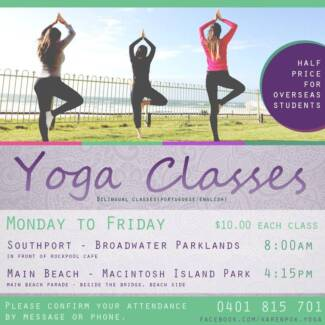 Yoga classes from $10.00 Main Beach Gold Coast City Preview