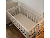 Crib with foam mattress (white) 40GBP (0-6 months)