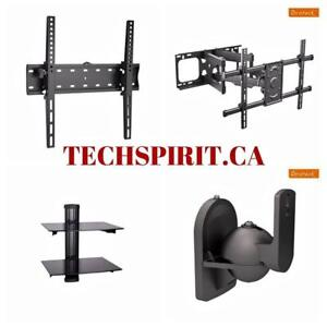 TV Wall Mount for LCD/LED Flat or Curved TV Fixed, Tilt, Full Motion, Corner, Projector Mount,  Speaker Mount, HDMI