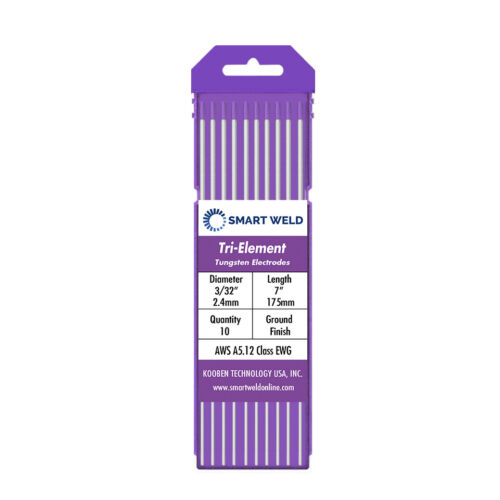"""Purple TIG Welding Tungsten Electrode 3/32"""" (10 pack, EWG, Comparable with E3)"""