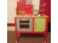 RED WOODEN KITCHEN WOOD TOY - FREE
