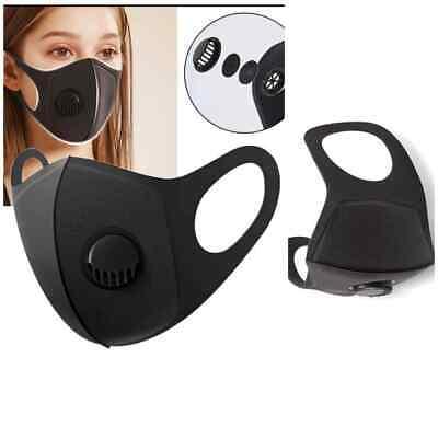 Face Mask Filter Valve Black Reusable Washable Anti Virus Dust Mouth Mask