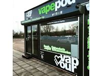 Vape Shop Sales Assistant Required