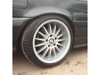 17 inch Bmw Deep Dish Alloy Wheels and Tyres (e36,e46,330,M6,Mv2,m3,e34,e39,e60)