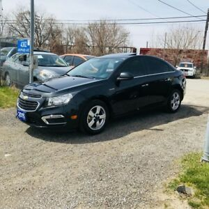 2015 Chevrolet Cruze 100% APPROVED-2LT CAMERA LEATHER ROOF RIMS+