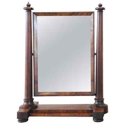 Antique Empire Mahogany Dressing Table Mirror, 1800s