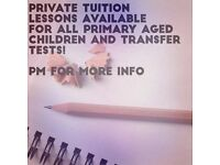 Tutoring available for transfer test, key stage 1, key stage 2 and GCSE. Derry/Londonderry area.