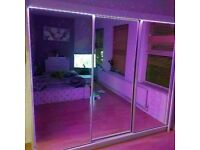💥💯UNBEATABLE PRICES ON 2 DOORS SLIDING WARDROBE WITH FULL MIRRORS ALL SHELVES & RAILS INCLUDED