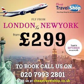 Cheap Flights London to New York +44 20 7993 2801