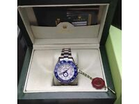 YachtMaster Rolex. Silver with white face. Complete with Box, Bag & Paperwork.
