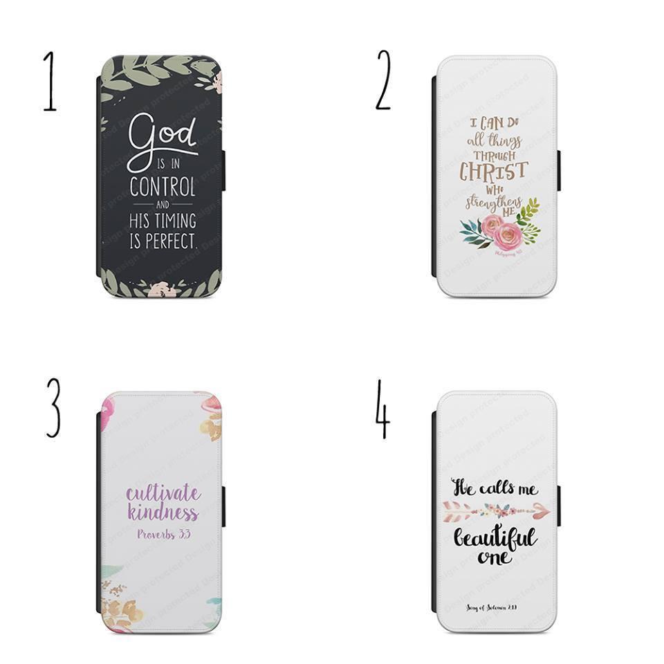 Bible Quotes Jesus Christ FLIP/WALLET Phone Case Cover iPhon