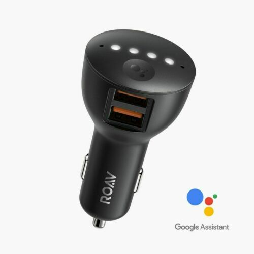 Anker Roav Bolt Dual USB Car Charger Adapter Google Assistant Voice Navigation