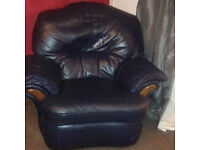 two seater sofa & maching recliner chair