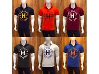 Tommy Hilfiger Men's Polo T-Shirt with Stand Collar and Chest Print WHOLESALE ONLY