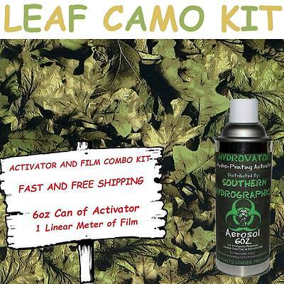 Hydrographic Film Water Transfer Hydro Dip 6oz. Activator Leaf Camo Dip Kit