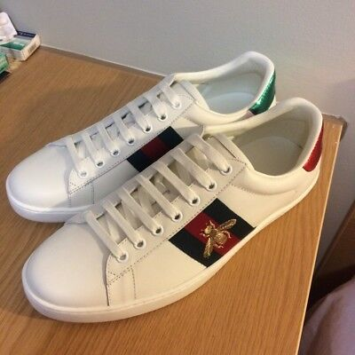 Brand New Gucci Ace Embroidered Sneakers Bee UK 9