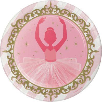 er Plates Girls Birthday Party Tableware Supplies Ballet (Ballerina Birthday Party Supplies)