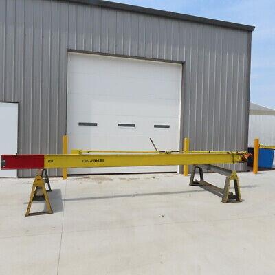 4000lb 2ton Cap. Wall-mount Overbraced Tie-rod Jib Crane 211 Swing