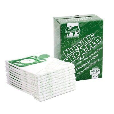Flo Vac (10 x Numatic Henry Hoover Vac Bags Hepaflow Hepa Flo - ok for Hetty Harry James)