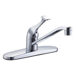 Kitchen Faucet and Double Bowl Stainless Steel Sink