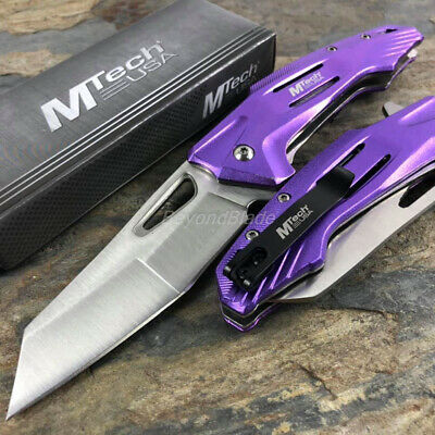 Purple Razor Sword Spring Assisted Survival Camping Rescue Pocket Knife