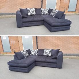 ^^ NEW BARCELONE CHENILLE FABRIC ^^ CORNER SOFA OR 3+2 SOFA SET AVAILABLE NOW IN STOCK