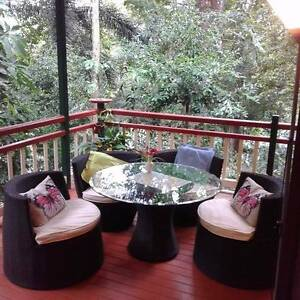 Outdoor Setting - 4 chairs plus 1 x table ( glass table top free) Kamerunga Cairns City Preview