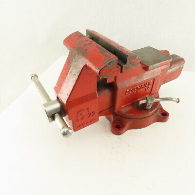 Columbian D45 5-12 Swivel Base Combination Pipe Bench Vise No Jaws 6 Open