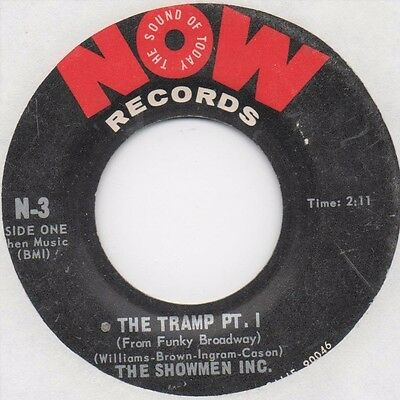 Showmen Inc. - The Tramp Pt. 1 & 2 (Now) Orig. Funk Soul Breaks 45 Brainfreeze