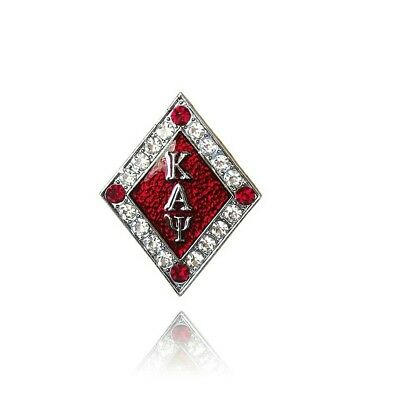 Kappa Alpha Psi Fraternity red Diamond letters Lapel Pin Phi Nu Pi