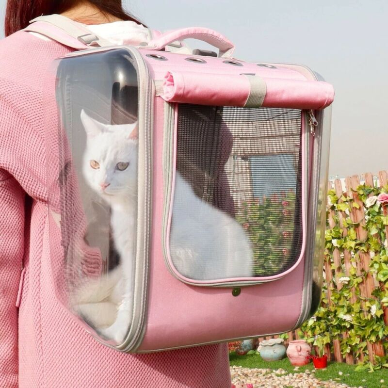 Pet Cat Carrier Backpack. Breathable Travel Outdoor Shoulder Bag.