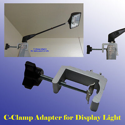 Strong C-clamp Adapter Converter Pop Up Tension Booth Display Light LED/Halogen