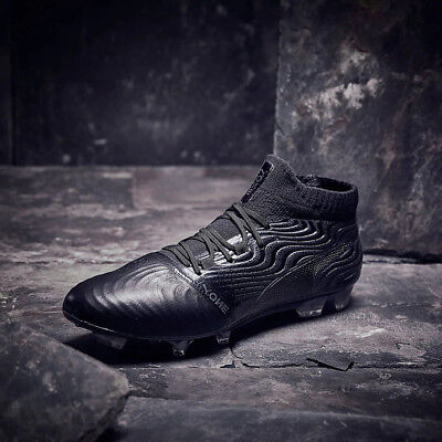 Puma ONE 18.1 FG Mens Leather Football Boots Black SIZE 6 6.5 7 7.5 8 8.5 9 £180