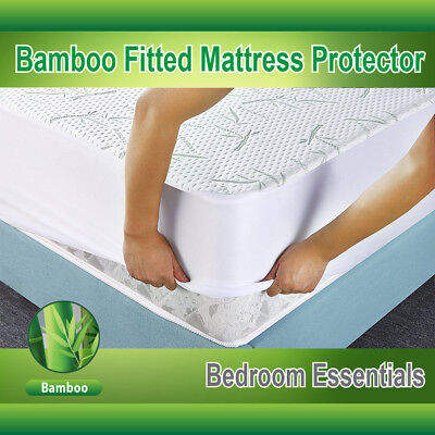 Mattress Protector Waterproof Bamboo Soft Hypoallergenic Fitted Pad Cover D3R4 Fitted Hypoallergenic Polyester Mattress Pad
