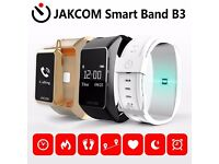 JAKCOM B3 Smart Band, Smart Watch Bluetooth earphone Compatible for iPhone and Android 3 Colors