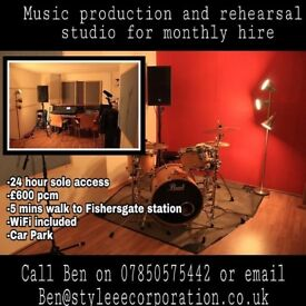 Permanent rehearsal studio for sole access / share BN41