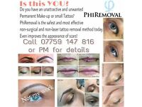 Models For - Permanent Makeup Removal (Eyebrows, Eyeliner, Lips)