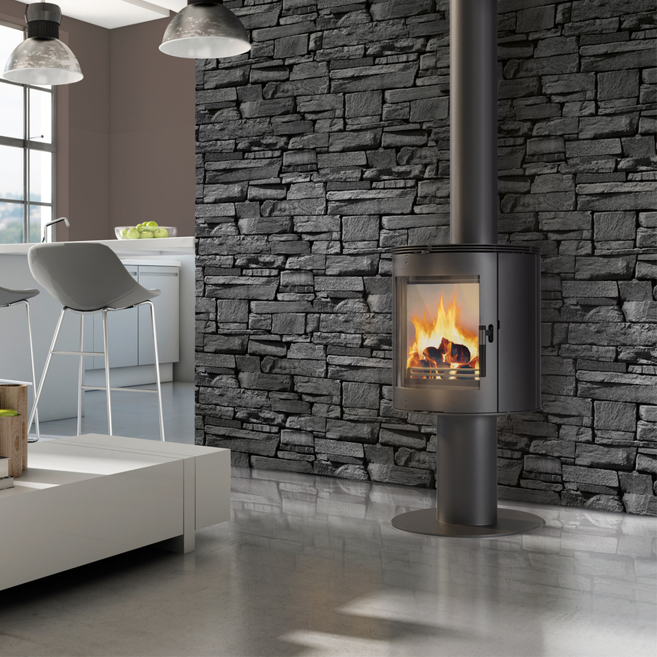 Stove Orbit Curved Free Standing Contemporary Wood Burning Stove Wood Burner Ebay