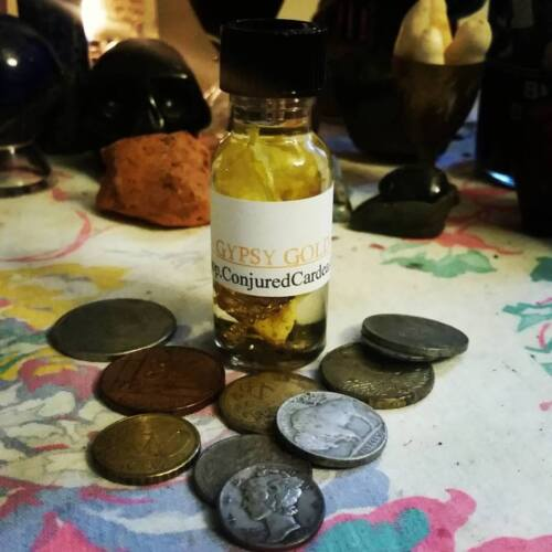 Gypsy Gold Specialty Oil-Hoodoo-Wicca-Witchcraft-Wicca-Opportunity, Employment